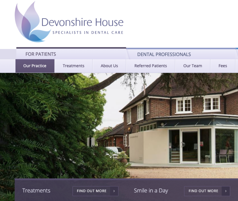 Devonshire House Dental Homepage