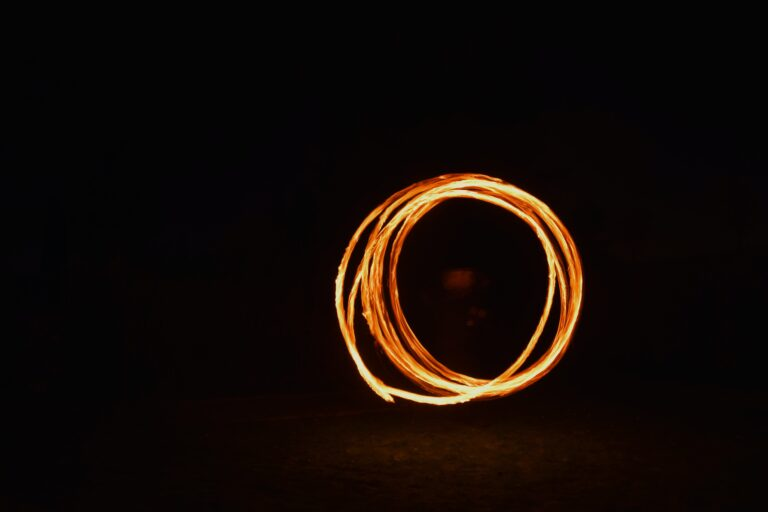 timelapse photography of fire dancing
