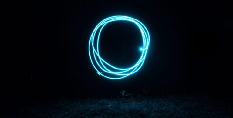 blue LED string light
