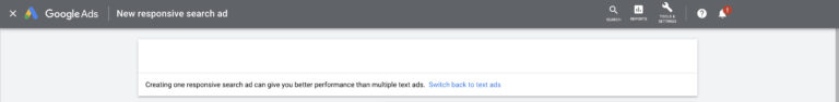 Creating Google Ad expanded text ad