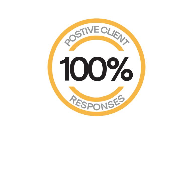 100% positive response
