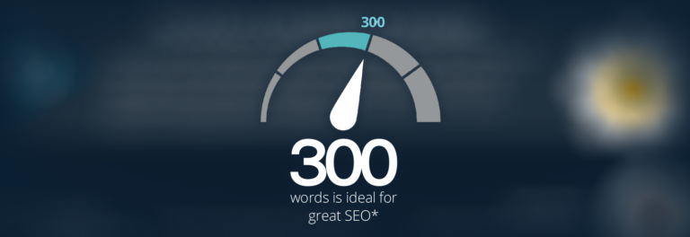 300 words is ideal for a blog post