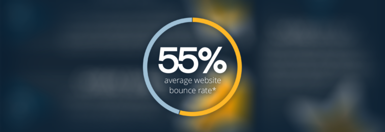 55% average bounce rate