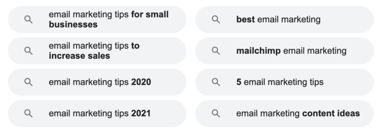 """Related searches for """"email marketing tips"""""""