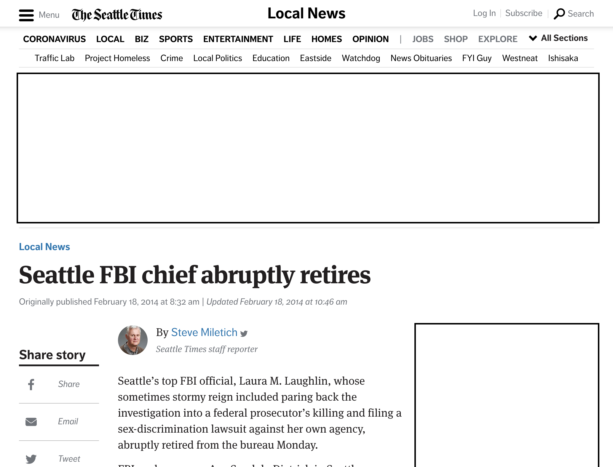 Example of good E-A-T from The Seattle Times